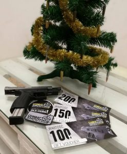 Gift voucher combat shooting